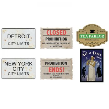 6 Pancartes assortis prohibition