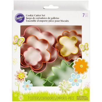 7 emportes pièces WIlton fleurs et papillons