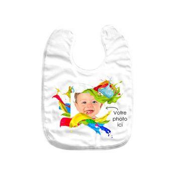 Bavoir bébé personnalisé décor splash
