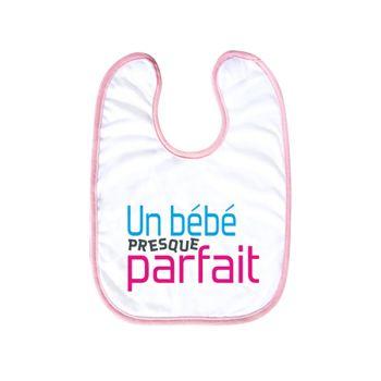 Bavoir bébé personnalisé décor bébé presque parfait