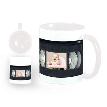 Mug personnalisé blanc décor VHS