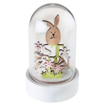 Cloche en verre lapin de pâques