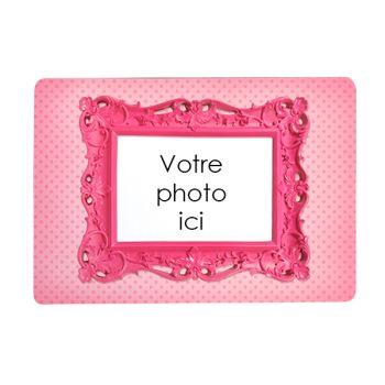 Tapis de souris personnalisé décor cadre rose