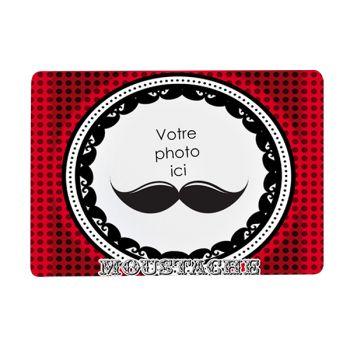 Tapis de souris personnalisé décor moustache