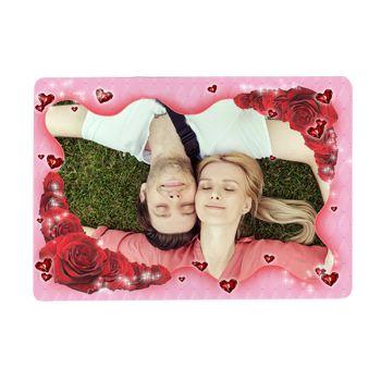 Tapis de souris personnalisé décor Coeurs et Roses