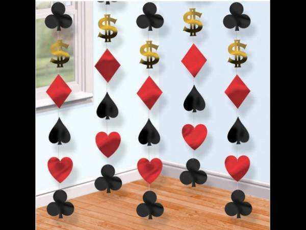 guirlande dollars vegas deco de fete theme casino poker. Black Bedroom Furniture Sets. Home Design Ideas