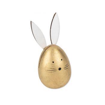 Porte nom oeuf lapin en bois or