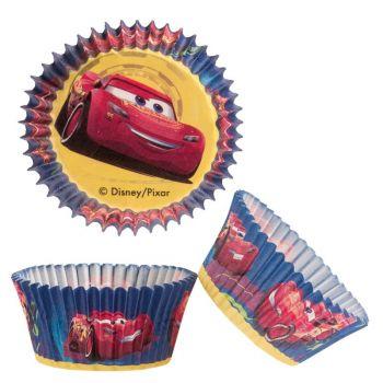 50 Caissettes Cupcakes Cars Ø5cm