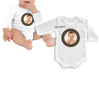 Body bébé personnalisé décor hipster manche longue