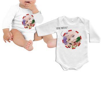 Body bébé personnalisé décor pirate manche longue