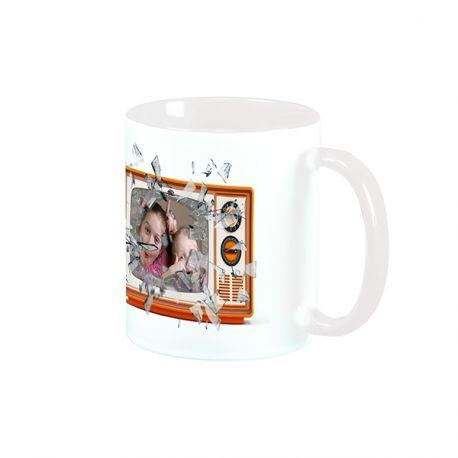 Magnifique mug en céramique à personnaliser avec vos photos et illustrations personnelles . Matériel : céramique. Contenance : 32,5 cl.