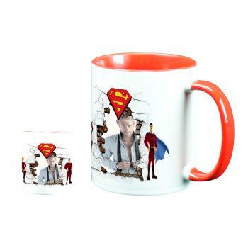 Mug personnalisé bicolore décor superman