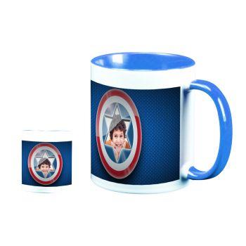 Mug personnalisé bicolore décor Capitaine America
