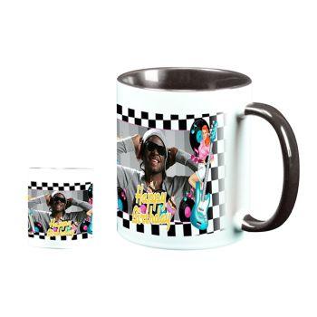 Mug personnalisé bicolore décor 50s