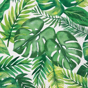 16 serviettes Tropical palm