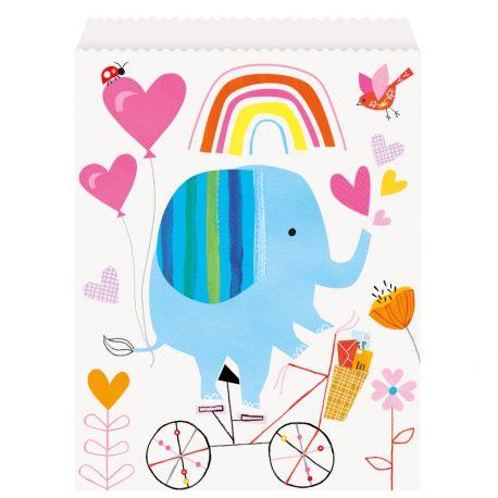 8 pochettes cadeaux en papier zoo baby idéal pour une décoration de table d'anniversaire rigolote