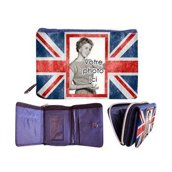 Portefeuille personnalisé décor UK