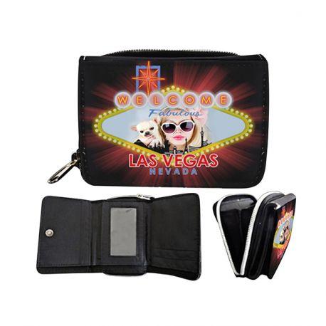 Portefeuille décor Las Vegas personnalisé avec vos photos ou message personnel. Ce portefeuille est le cadeau d'anniversaire ou de noel...