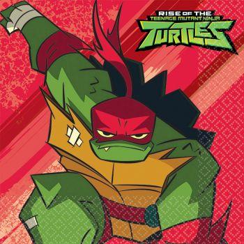 16 Serviettes Tortue Ninja mutant
