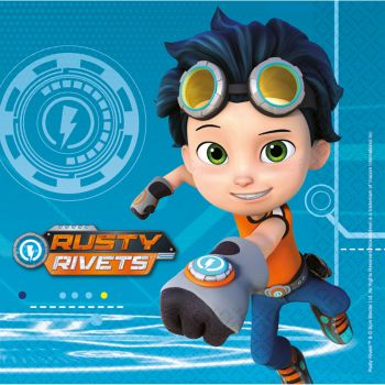 16 serviettes Rusty rivets