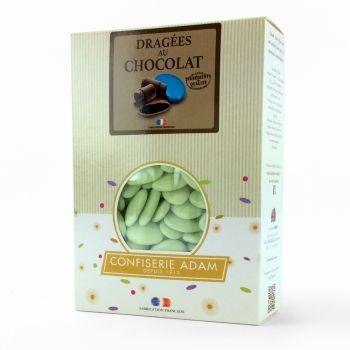 Dragées chocolat brillant vert d'eau 1Kg