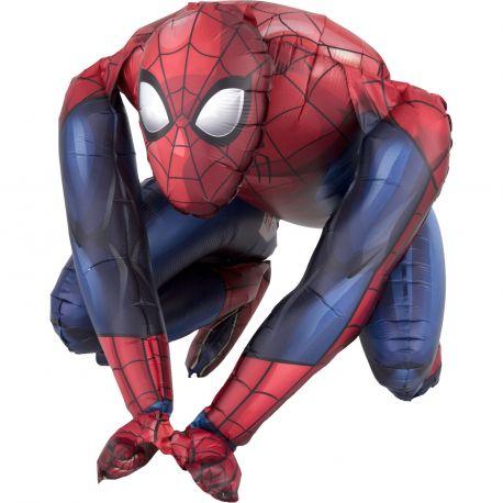 Superbe ballon en aluminium en forme de Spiderman Ce ballon est fait pour être posé, il n'est donc ps nécessaire de le gonfler à...