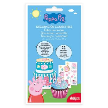 22 Décors comestible Peppa pig