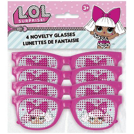 4 lunettes fantaisie sur le thème LOL Surprise