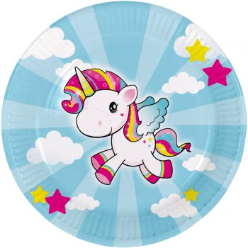 10 Assiettes Licorne pop