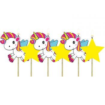 6 Bougies pics Licorne pop