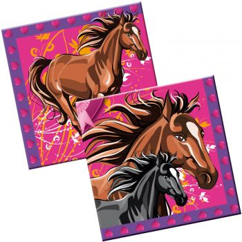 20 Serviettes Chevaux party