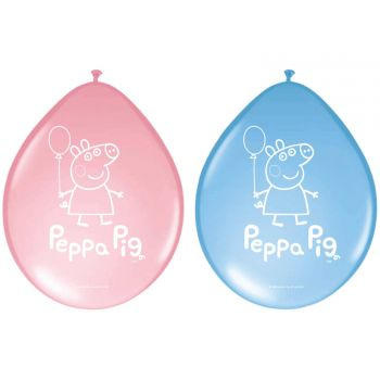 8 Ballons latex Peppa Pig