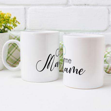 Magnifique mug Call me Madame en céramique . Ce mug est un cadeau original à offrir.Compatible lave vaisselle.Matériel :...