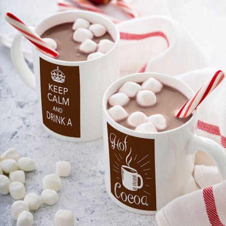 Magnifique mug Drink Hot Cocoa en céramique . Ce mug est un cadeau original à offrir.Compatible lave vaisselle.Matériel :...