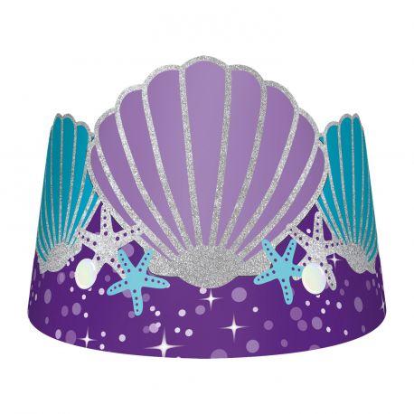 Superbe couronnes pour agrémenter la décoration de votre fête d'anniversaire sur le thème sirènes