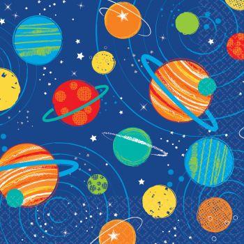 16 Serviettes planètes