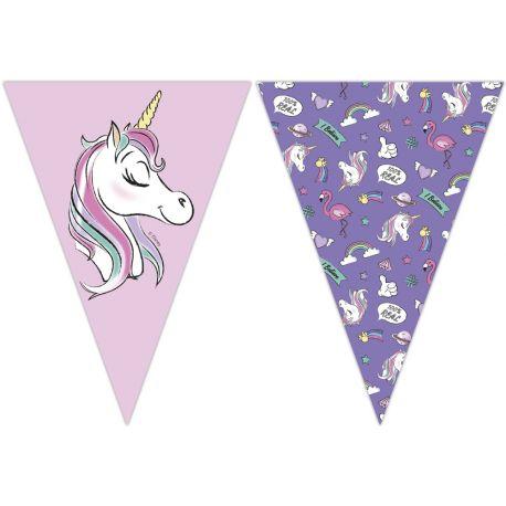 Guirlande de fanions Minnie Licorne pour la décoration de fête d'anniversaire de votre enfant.