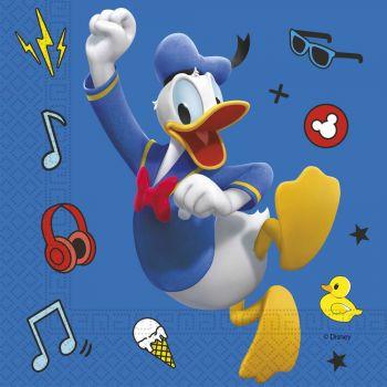 20 Serviettes Mickey play