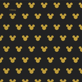 20 Serviettes Mickey gold