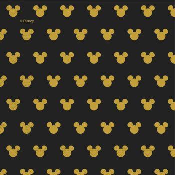 20 Serviettes Mickey gold