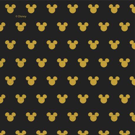 20 Serviettes Mickey gold pour la décoration de table d'anniversaire de votre enfant. Dimensions: 33cm
