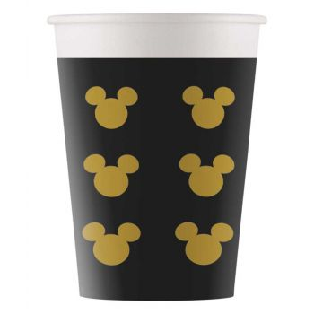 8 Gobelets Mickey gold