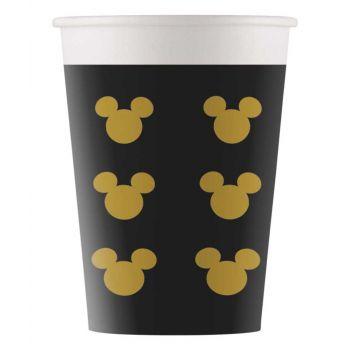 8 Gobelets Mickey gold