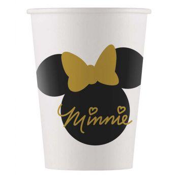 8 Gobelets Minnie gold