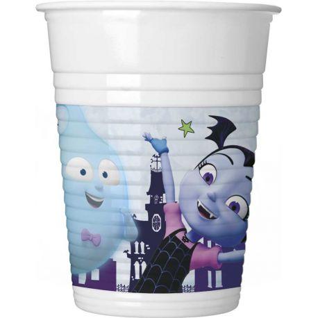 8 gobelets en plastique Vampirina pour la décoration de table d'anniversaire de votre enfant. Dimensions: 20cl