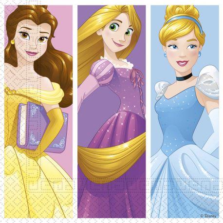20 Serviettes en papier pour la décoration de table d'anniversaire de votre enfant sur le thème de Princesses daydream Dimensions: 33cm