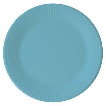 8 Assiettes compostable turquoise
