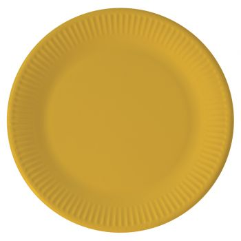 8 Assiettes compostable jaune