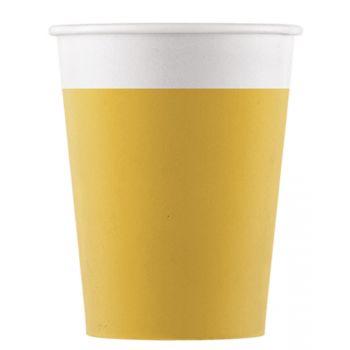 8 Gobelets compostable jaune