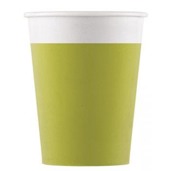 8 Gobelets compostable vert anis